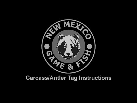 New Mexico Carcass Tag Instructions
