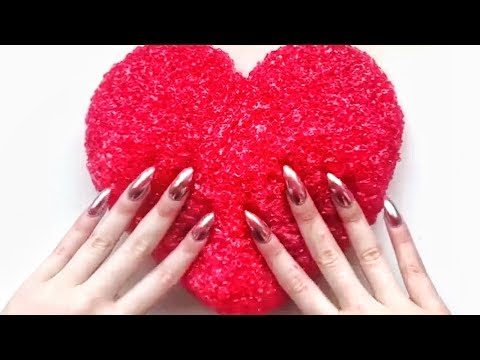 VALENTINES SLIMES COMPILATION - Satisfying Slime ASMR - Daily Satisfying #28