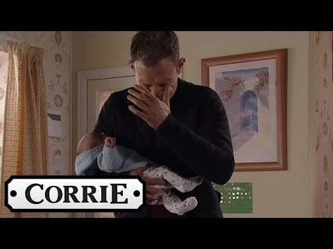 Coronation Street - Strained Nick Left Holding The Baby