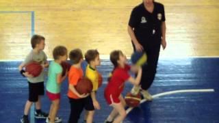 Тренировка по баскетболу у детей в СДЮСШОР №2 г.Вологда