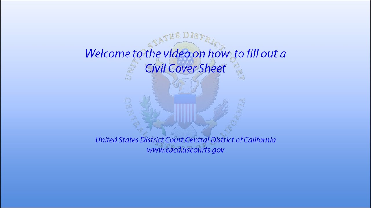 how to fill out a civil cover sheet how to fill out a civil cover sheet