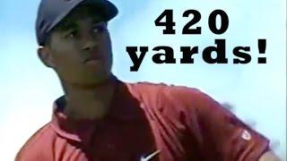 Tiger Woods Longest Drive of his career (420 yards)