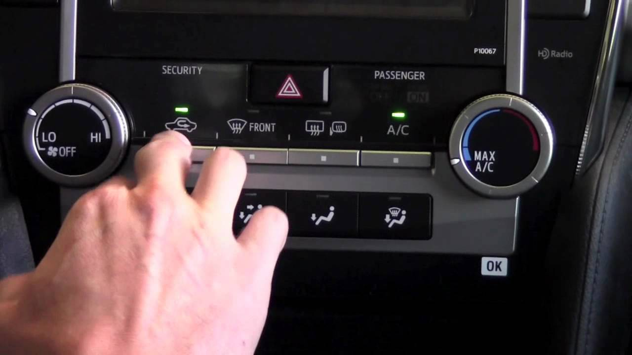 2012 Toyota Camry Heat Air Conditioning Controls How To By Install A Brake Controller In Aurion Using Seatheater City Minneapolis Mn