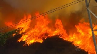 Raging California wildfire forces thousands to flee