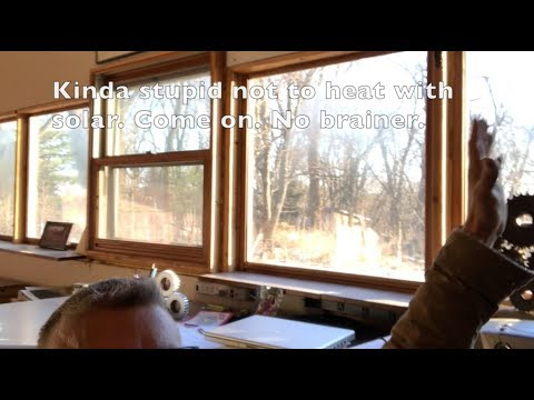 Garden shed converted to passive solar office/ studio - Quick overview