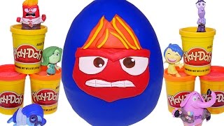 Inside Out Play Doh Mega Anger Surprise Egg Disney Pixar Playdough! Giant Egg Surprise Toys by DCTC