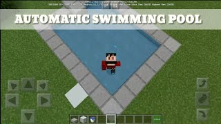 HOW TO make an Automatic swimming pool in Minecraft