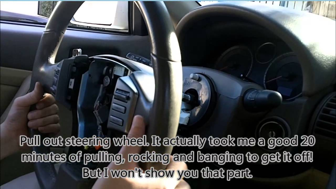 Infiniti g35 steering wheel air bag and clock spring spiral cable infiniti g35 steering wheel air bag and clock spring spiral cable removal youtube asfbconference2016 Image collections
