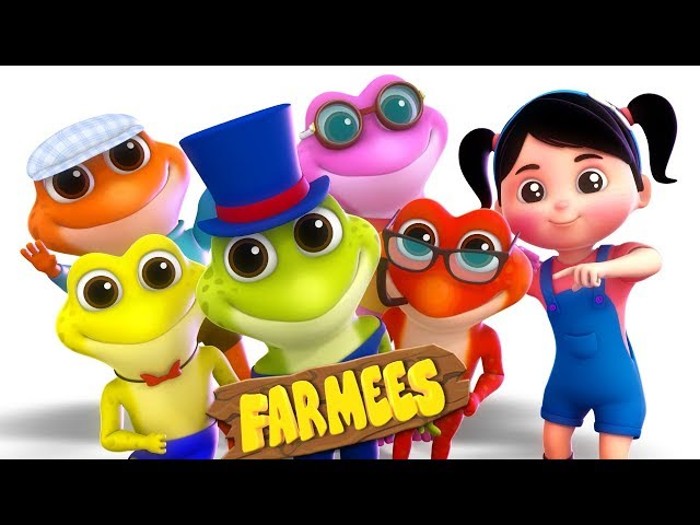 Five Little Speckled Frogs | Songs For Babies by Farmees