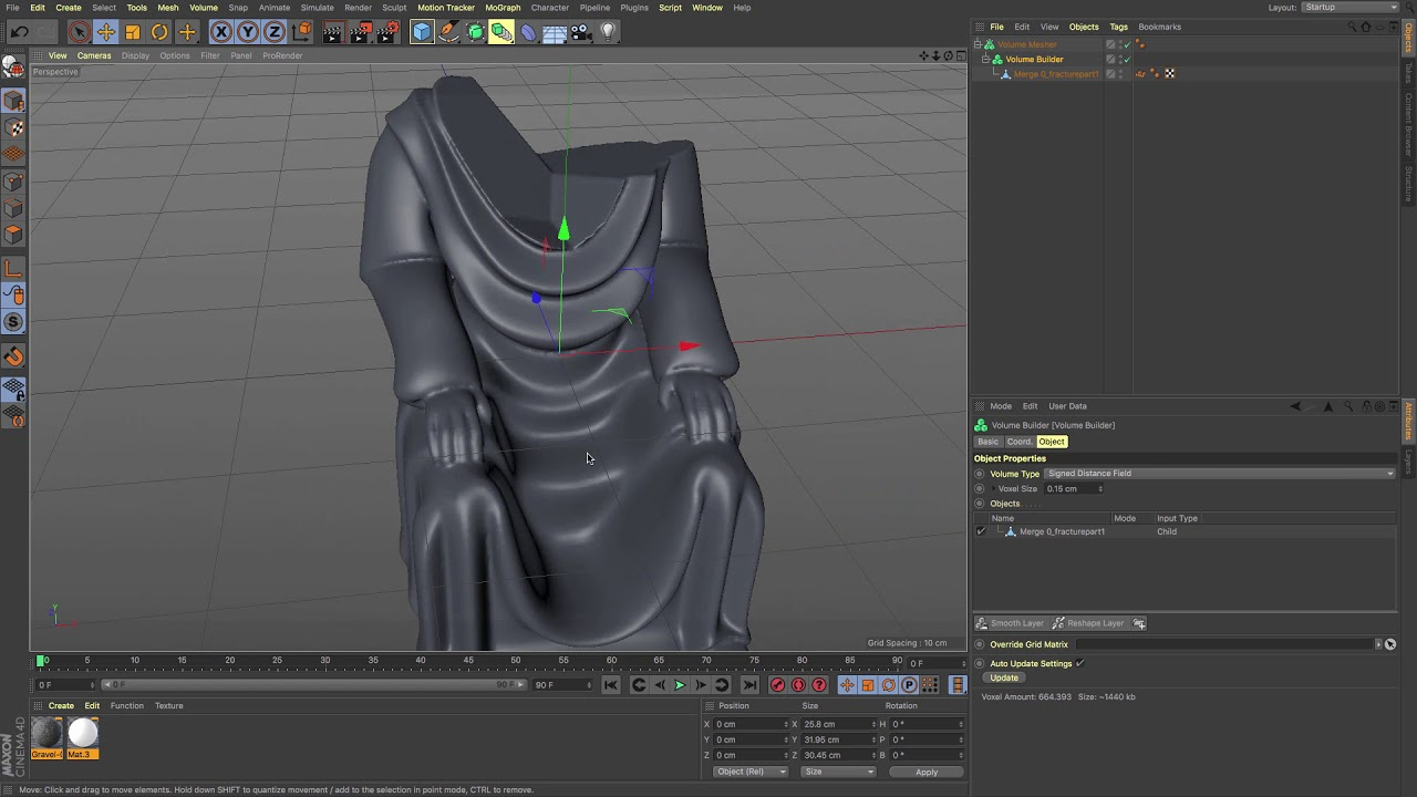 Cinema 4D Tutorial - Using OpenVDB to prepare for 3D Printing