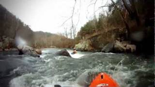 Whitewater Kayaking on the French Broad, NC (Section IX)