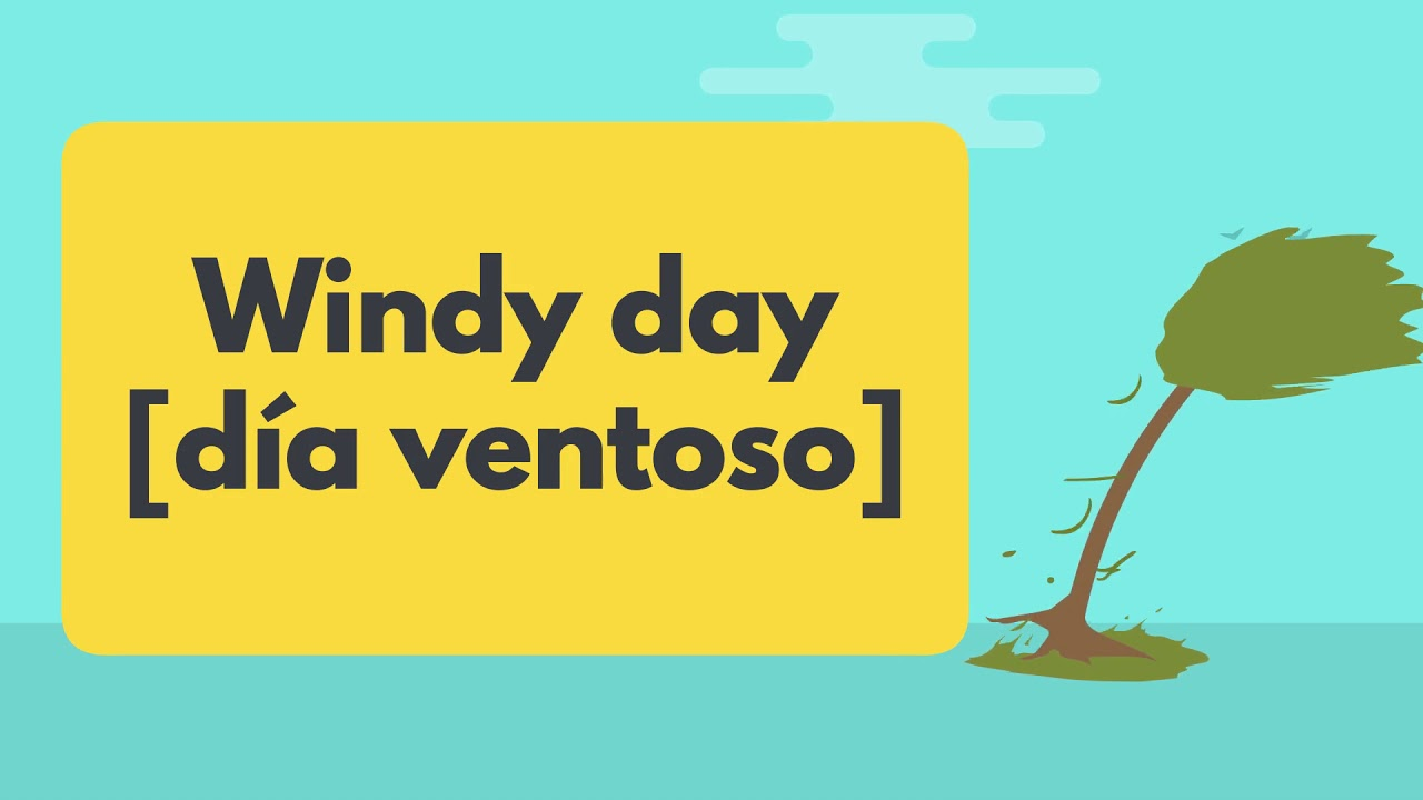 Vocabulario Clima Weather En Inglés Y Español