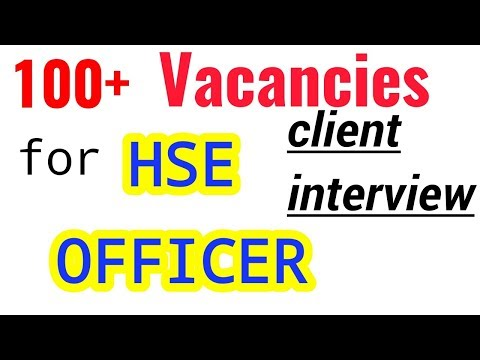HSE Officer Vacancies / Job For Safety Officer