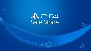 PS4 Safe Mode
