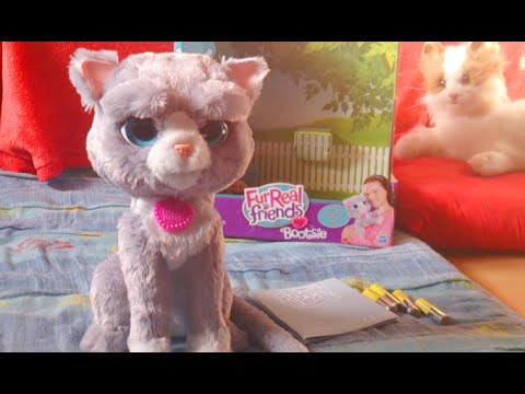 Pr sentation de bootsie mon chat de hasbro furreal friends youtube - Moustache mon chat hasbro ...