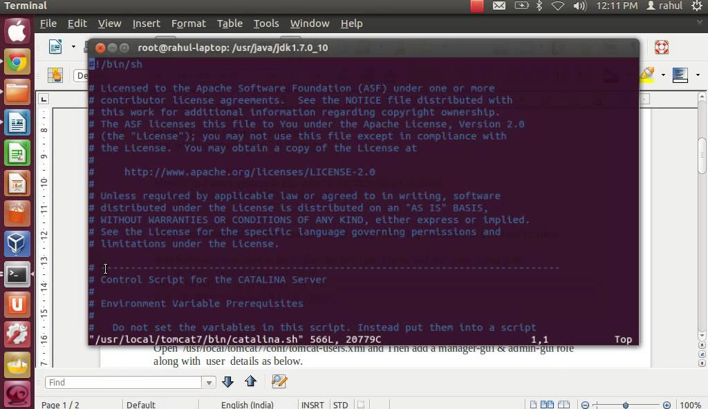 how to start tomcat in ubuntu