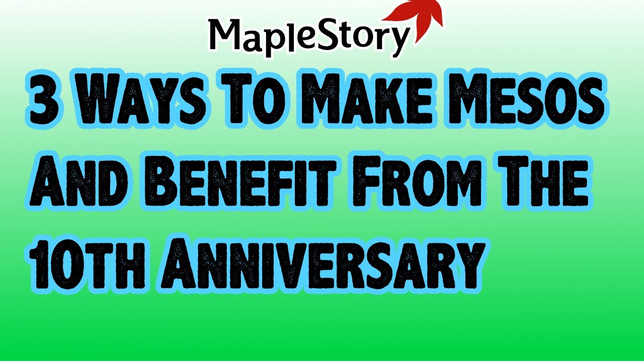 maplestory best way to make mesos 2016