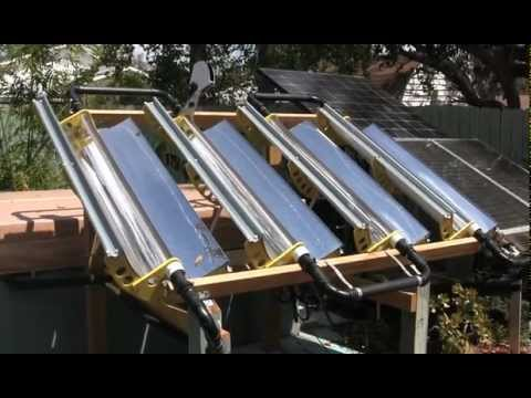 Tracking Parabolic Concentrator Solar Hot Tub Heater
