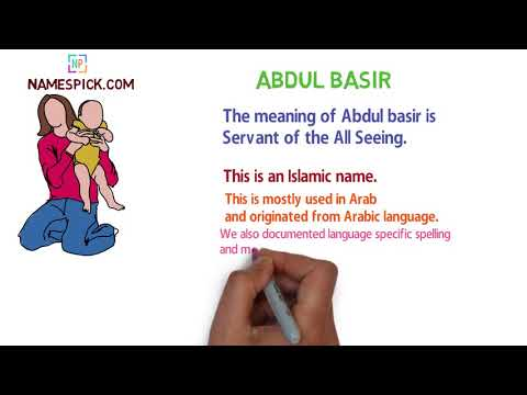 The meaning of Abdul basir
