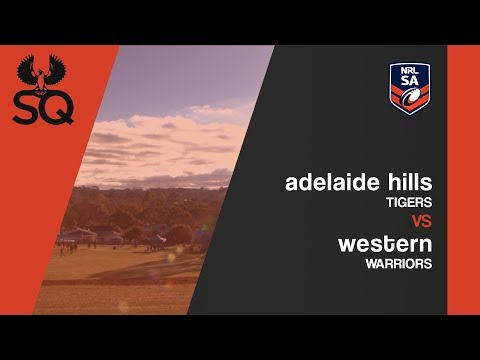 Adelaide Hills Tigers vs Western Warriors | NRL SA ISC Cup | Round 08