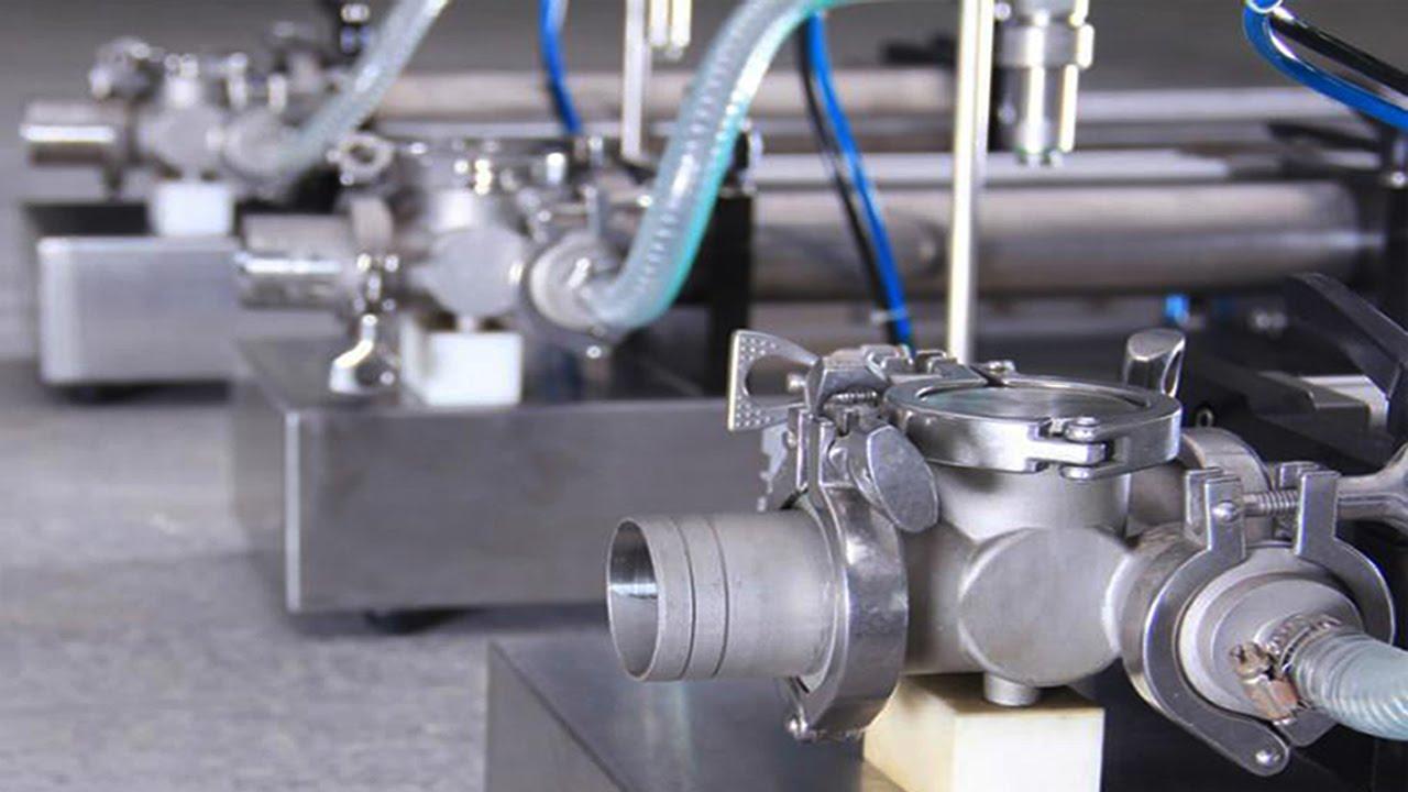 Horizontal Self Suction Pneumatic Liquid Filling Machine