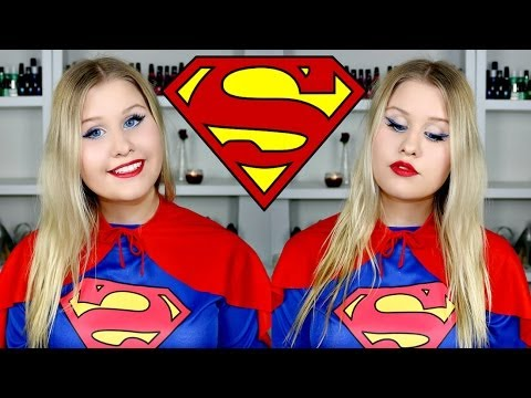 SUPERWOMAN / SUPERGIRL MAKEUP AND COSTUME U2605 HALLOWEEN TUTORIAL - YouTube