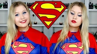One of JordysBeautySpot's most viewed videos: SUPERWOMAN / SUPERGIRL MAKEUP AND COSTUME ★ HALLOWEEN TUTORIAL