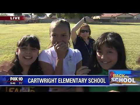 Fox 10 Weatherman Cory McCloskey visits Cartwright School