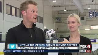 Former olympic skaters train high level ice dancers at Hertz Arena, gear up for performance Sunday