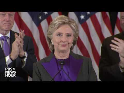 Watch Hillary Clinton's full concession speech in U.S. presidential election