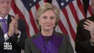 watch hillary clintons full concession speech in us presidential election