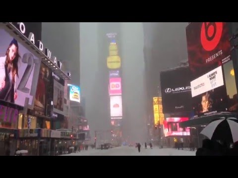 New York, New York - Times Square during the 2016 Blizzard HD (2016)