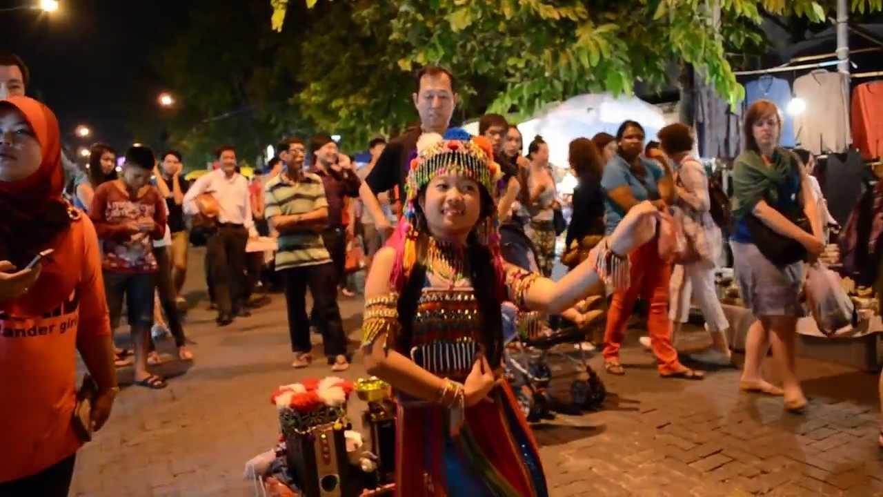 Night Market Chiang Mai Tribal Girl dance Thai - YouTube