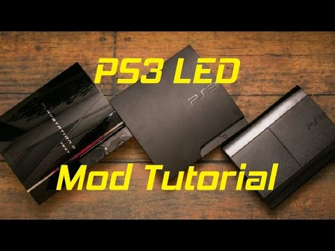 ps3 led case modding tutorial youtube. Black Bedroom Furniture Sets. Home Design Ideas
