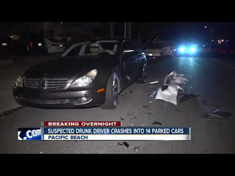 Driver accused of hitting numerous cars in Pacific Beach, driving away