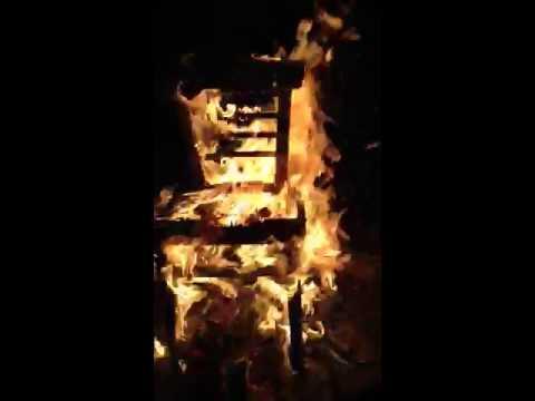 Beautiful Chair On Fire