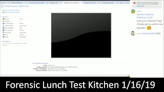 Forensic Lunch Test Kitchen 1/16/19 Server 2008 R2 Syscache Mimikatz
