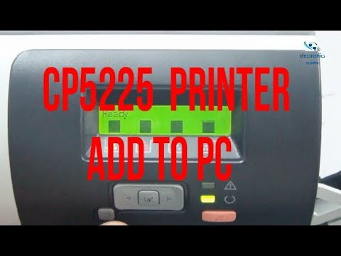 Hp Color Laser Jet CP5225 Printer Add To PC