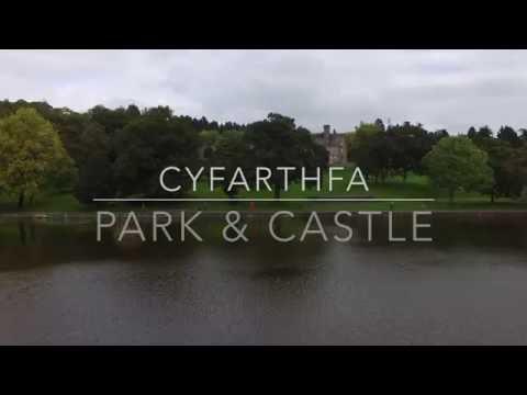 Drone Views Over Cyfarthfa Castle & Park