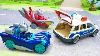 Мультики про машинки с игрушками Плеймобил Герои в масках Гонка в гонке Детские мультфильмы 2020