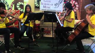 We Three Kings, Students String Quartet, Gasse School of Music, Forest Park, Illinois