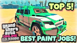 TOP 5 AWESOME PAINT JOBS FOR THE NEW HVY NIGHTSHARK ! {CINEMATIC}(GUNRUNNING DLC) GTA V ONLINE