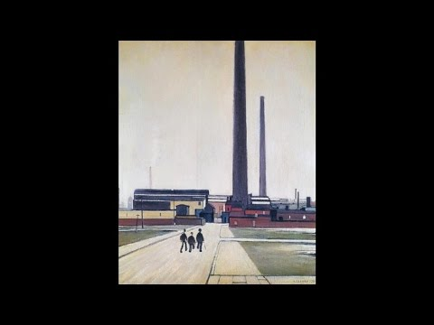 L S Lowry - Factory At Widnes (1956)