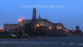 South Block and Vijay Chowk in evening glow...