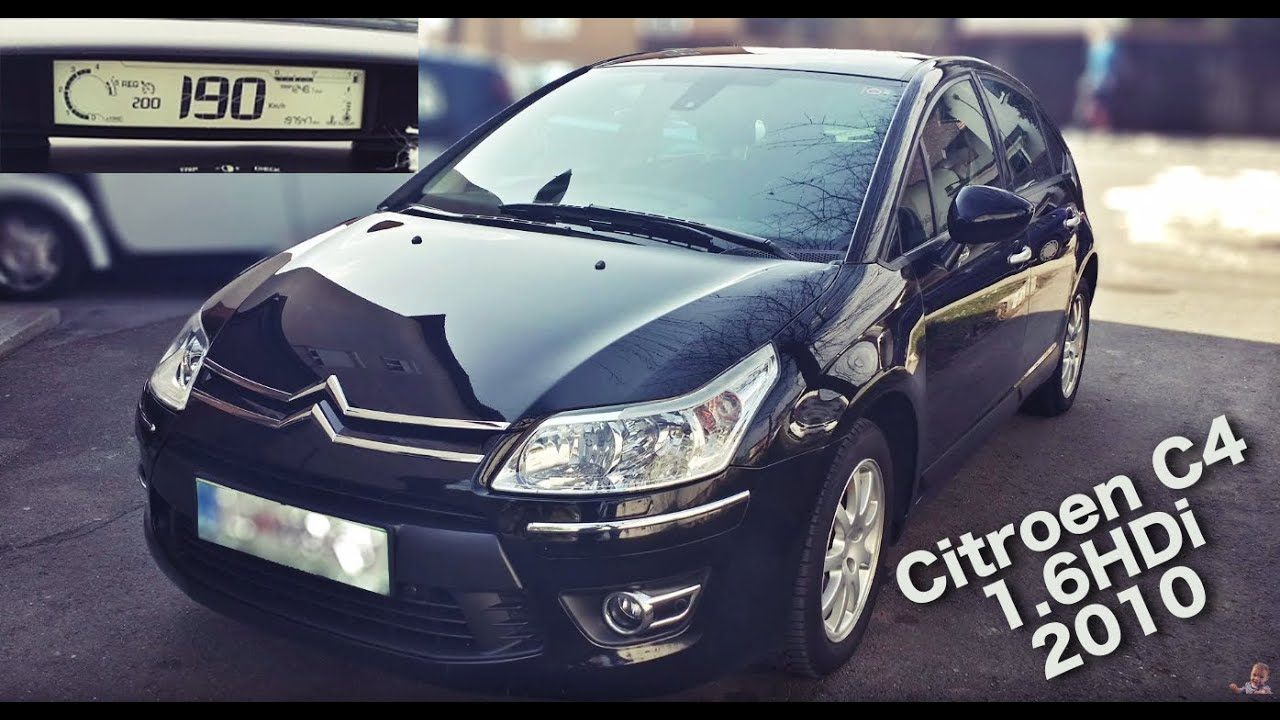 citroen c4 exclusive 1 6 hdi 109ps 2010 acceleration 0 to max youtube. Black Bedroom Furniture Sets. Home Design Ideas
