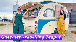 VINTAGE CARAVAN RENOVATION with a DIFFERENCE - Queenies Travelling Teapot Tour!