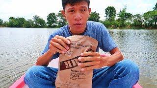 กินอาหาร MRE บนเรือกลางทะเล เรือจมน้ำเกือบตาย!!
