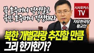 황교안 '북한 개별관광 추진할 만큼 그리 한가한가?'