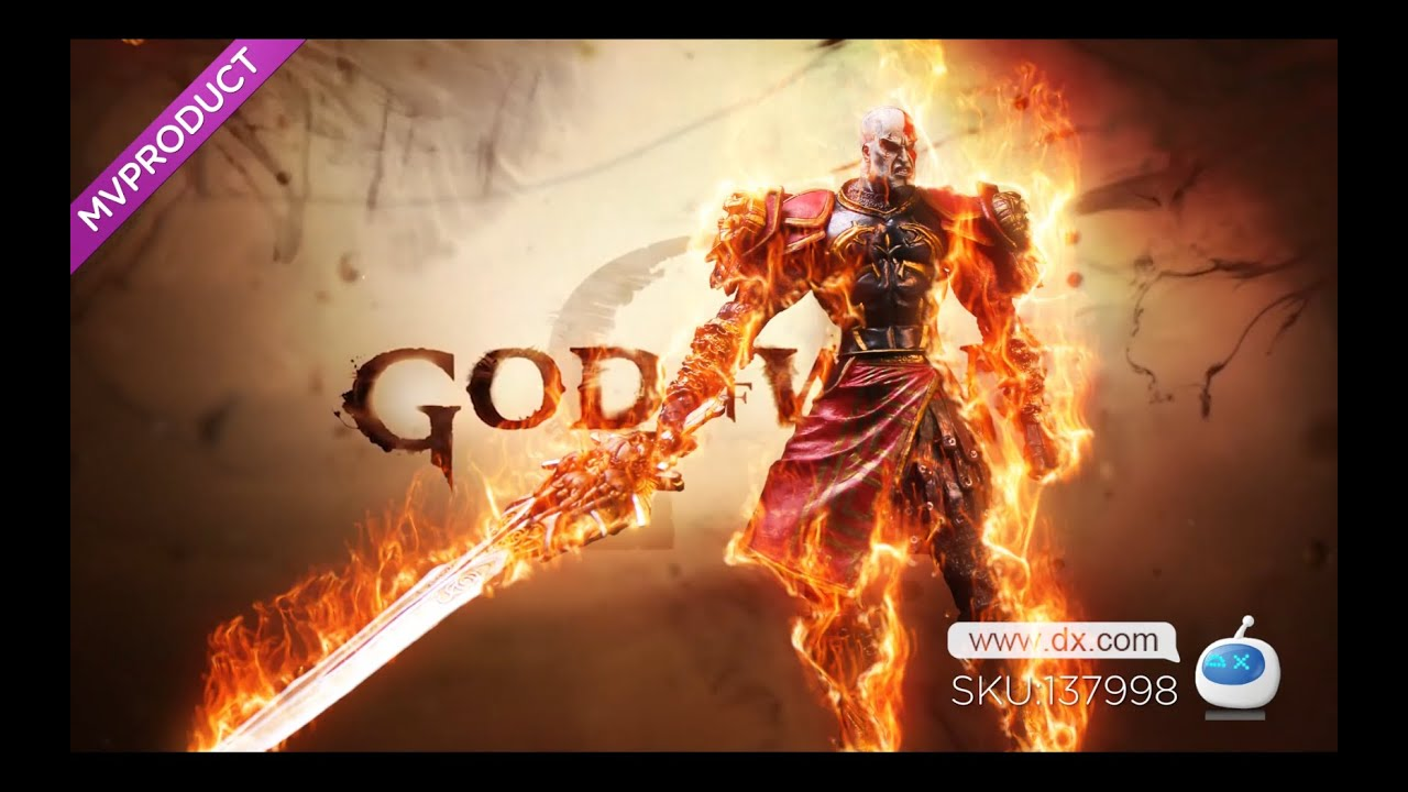 Dx God Of War 2 Pvc Action Figure Display Toy Doll Kratos In Ares Armor With Blades Youtube