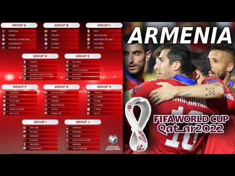 Соперники Армении в отборочном этапе ЧМ 2022 года